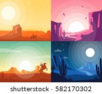 wild west landscape collection. ... | Shutterstock .eps vector #582170302