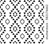 seamless hand drawn geometric... | Shutterstock .eps vector #582176662