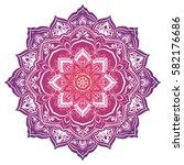 vivid mandala. round ornament...   Shutterstock .eps vector #582176686