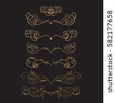 golden flourish embellishments. ... | Shutterstock .eps vector #582177658