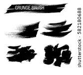 vector set of grunge brush... | Shutterstock .eps vector #582180688