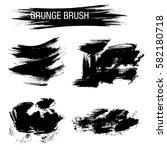 vector set of grunge brush... | Shutterstock .eps vector #582180718