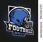 american football helmet. games ... | Shutterstock .eps vector #582181192