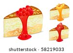 cake set with strawberry and... | Shutterstock .eps vector #58219033