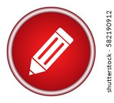 vector round red icon with a... | Shutterstock .eps vector #582190912
