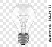 transparent light bulb on...   Shutterstock .eps vector #582196456