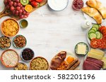 top view of the healthy filling ... | Shutterstock . vector #582201196