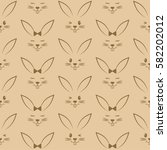 seamless pattern with easter... | Shutterstock .eps vector #582202012