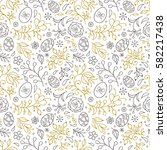 seamless pattern with flowers... | Shutterstock .eps vector #582217438