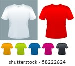 men's t shirt vector template. | Shutterstock .eps vector #58222624