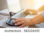 business man working analyzing... | Shutterstock . vector #582226435