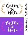 enter to win vector sign set   Shutterstock .eps vector #582232666