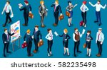 isolated group of diverse... | Shutterstock .eps vector #582235498