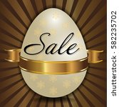 easter sale background with... | Shutterstock .eps vector #582235702