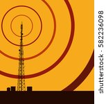 telecommunication tower with... | Shutterstock .eps vector #582236098