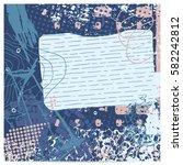 blue artistic neo grunge style...   Shutterstock .eps vector #582242812