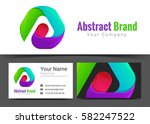 abstract ribbons corporate logo ... | Shutterstock .eps vector #582247522
