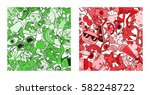 set of graffiti pattern with... | Shutterstock .eps vector #582248722