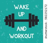 sport poster for gym and sport... | Shutterstock .eps vector #582252172