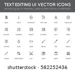 text editing user interface  ui ... | Shutterstock .eps vector #582252436