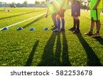 soccer football training... | Shutterstock . vector #582253678