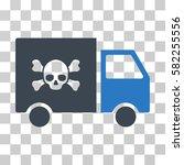 toxic transportation car vector ... | Shutterstock .eps vector #582255556