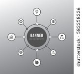 banner infographics circle | Shutterstock .eps vector #582258226