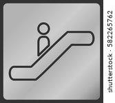 escalator icon | Shutterstock .eps vector #582265762