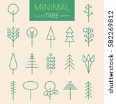 modern set of icons of trees.... | Shutterstock .eps vector #582269812