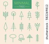 modern set of icons of trees.... | Shutterstock .eps vector #582269812