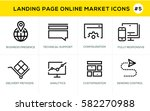 flat line design concept icons... | Shutterstock .eps vector #582270988