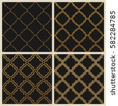 oriental ornate seamless...   Shutterstock .eps vector #582284785