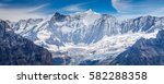 great view of the snowy massive ... | Shutterstock . vector #582288358