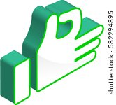 ok hand sign 3d isometric icon | Shutterstock .eps vector #582294895