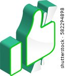 money hand sign 3d isometric... | Shutterstock .eps vector #582294898