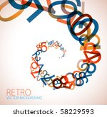 abstract retro background with... | Shutterstock .eps vector #58229593