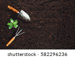 Gardening Tools Fertile Soil Texture - Fine Art prints
