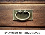 old drawer handle in old...