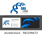 blue dna corporate logo and... | Shutterstock .eps vector #582298672