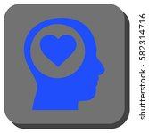 love thinking head rounded icon.... | Shutterstock .eps vector #582314716