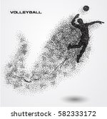 volleyball player of a... | Shutterstock .eps vector #582333172