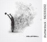 volleyball player of a... | Shutterstock .eps vector #582333202