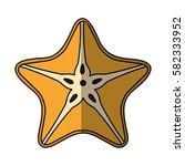 fresh fruit slice isolated icon   Shutterstock .eps vector #582333952