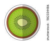 fresh fruit slice isolated icon   Shutterstock .eps vector #582334486