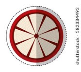 fresh fruit slice isolated icon   Shutterstock .eps vector #582334492