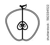 fresh fruit slice isolated icon   Shutterstock .eps vector #582334522