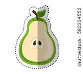 fresh fruit slice isolated icon   Shutterstock .eps vector #582334552