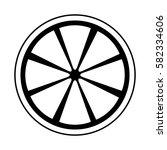 fresh fruit slice isolated icon   Shutterstock .eps vector #582334606