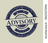 blue advisory distressed rubber ... | Shutterstock .eps vector #582337096