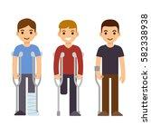 disability and trauma cartoon...   Shutterstock .eps vector #582338938